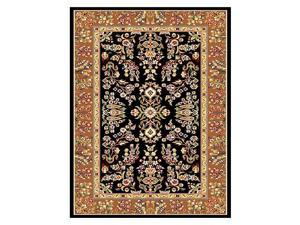 Rug w Black Background & Tan Border - Lyndhurst (8 ft. Round)