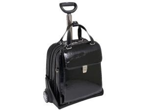 Ladies' Vertical Detachable-Wheeled Case w Secure Clasp - Novembre (Black)