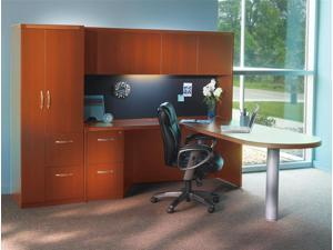 Aberdeen Series 5 Pc Office Set in Cherry Finish (Vertical Paper Management)