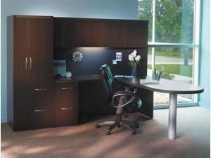 Aberdeen Series 5 Pc Office Set in Mocha Finish