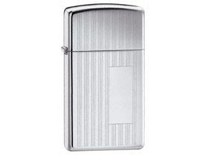 Ribbon Slim Windproof Lighter in High Polished Chrome (Century)