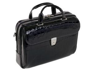 Ladies' Netbook Laptop Case w Adjustable Shoulder Strap (Large - Black)