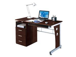 Laminate Computer Desk in Chocolate