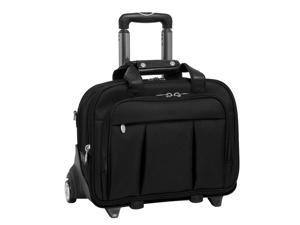 17-Inch Black Laptop Case w Detachable Wheel in Ballistic Nylon