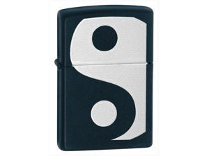 Yin & Yang Windproof Lighter (Pouch w Loop & Thumb Notch - Black)