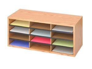 Corrugated 12 Compartment Literature Organizer