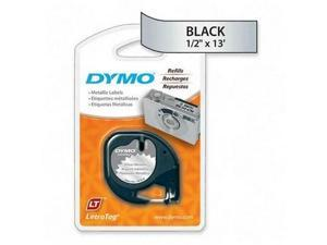 "Dymo LetraTag 91338 Metallic Tape - 0.5"" x 12.8ft - 1 x Roll"