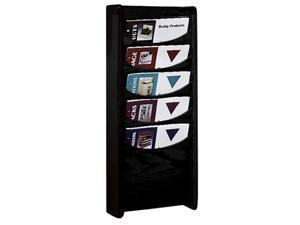5 Pocket Oak Display Rack (Black)