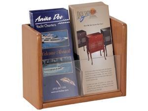 Single Pocket Woood Literature and Brochure Holder (Mahogany)