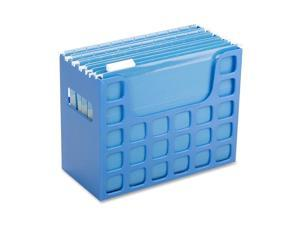"Esselte Corporation Hanging File Bin, 12-3/16""X6""X9-1/2"", Blue"