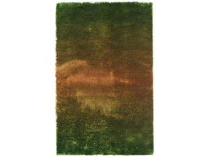 Jewel Area Rug In Green-Rust - 8 ft. x 5 ft.