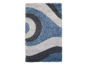 Pearl Area Rug In M.Blue-Charcoal-Silver - 8 ft. x 5 ft.