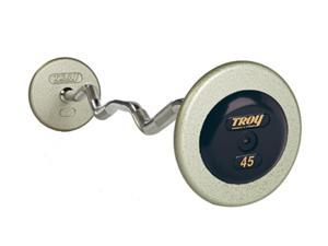 Pro-Style Fixed Curl Bar 20-110 lb. Gray Plate Set with Rubber End Caps