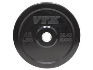 VTX 45 lb. Black Rubber Bumper Plate