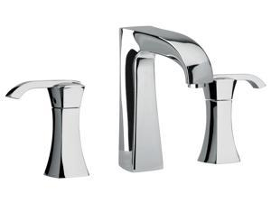 Jewel Faucets Two Lever Handle Widespread Lavatory Faucet w Arched Spout (Chrome)