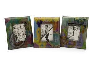 "Playful Paisley Photo Frames 5 x 7"" - Set of 3"