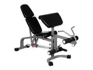 FID Weight Bench w Leg Extension and Preacher Curl
