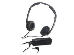 Compucessory Foldable Noise Canceling Headphone, 30mm Drive, Bk/Sr