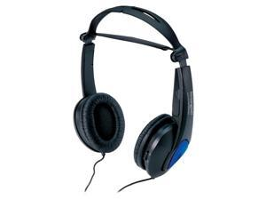 Kensington Headphones, Noise Canceling, 5' Cord, Foldable, Black