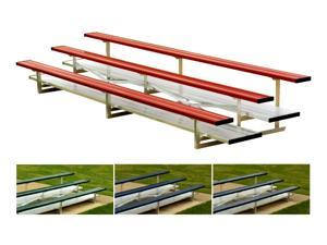 Powder Coated Bleacher w 4 Rows (56 Seats/Red)
