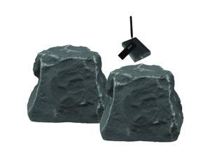Outdoor Wireless Rock Speakers (Slate)