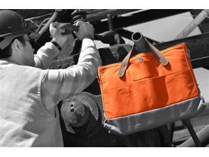 Canvas Briefcase - Orange and Gray
