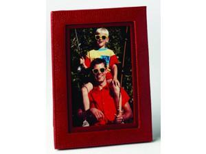 "4"" X 6"" Lizard Print Calf Photo Frame Red"