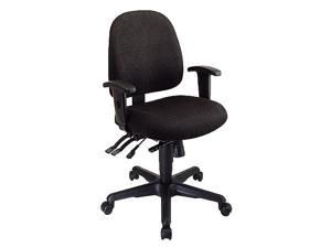 Ergonomic Contoured Office Chair w Tilting Ratchet Back & Adjustable Arms (Blue in Gavotte Pattern)