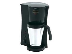 Black and Decker Steel Coffee Maker w Travel Mug
