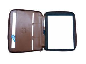 Casual Leather Padfolio in Antique Tan (Black)