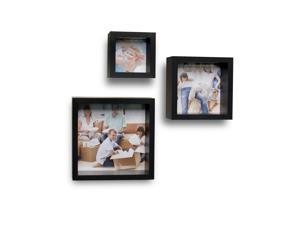 Photo Frame Wall Cube Shelves - Set of 3