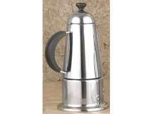 Carmen 6-Cup Stainless Steel Stove Top Espresso Maker