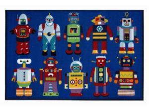 Go Robots Kids Rug