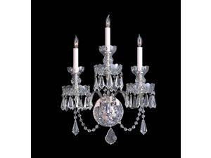 Crystorama Traditional Swarovski Spectra Crystal Wall Sconce - 5023-CH-CL-SAQ