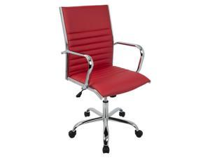 Master Contemporary Office Chair in Red