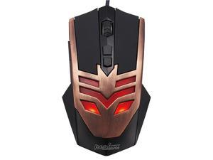 Perixx MX-1000 Copper Gaming Mouse - 7 Programmable Button, 5 User Profile, Omron Micro Switches, Avago 2000DPI A3050 Optical ...