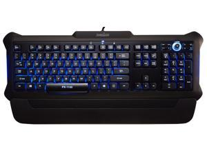 Perixx PX-1100 Backlit Gaming Keyboard - Red/Blue/Purple Illuminated Keys