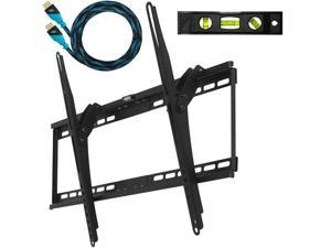 "Cheetah Mounts APTMM2B Ultra Flush 32""-65"" LCD LED Flat Screen TV Bracket Wall Mount With Integrated Bubble Level"