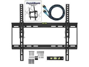 "Cheetah Mounts Flat Screen TV Wall Mount Bracket Designed for 20""-55"" Plasma LED LCD TV Includes Free 10' Braided High Speed ..."