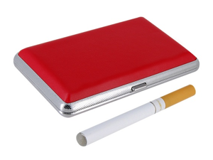 SL0179 Electronic Cigarette Kit with Leather Case (Red)