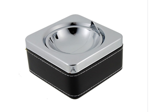 834BF Square Stainless Steel Chrome Ashtray (Silver)