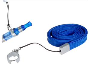 Neck Strap Lanyard with Ring Clip for Electronic Cigarettes (Blue)