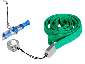 Neck Strap Lanyard with Ring Clip for Electronic Cigarettes (Green)