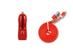 Voltsonic 3.1A Dual USB High-Speed Car Charger with Flatline Cable