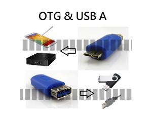 OEM 3in1 Micro USB 3.0 OTG And to USB A Female on Computer Adapter for HD HDD Hard Disk Drive Note 3 III Note 3 III N900A ...