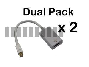 2 Pcs Thunderbolt Mini Displayport Male to HDMI Female Adapter Cable Converter Connector HDMI V1.4 Support 3D Compatible ... - OEM