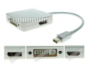 3in1 Mini Displayport DP to HDMI DVI & Displayport DP Adapter Cable Converter Connector for Apple MacBook MacBook Pro Mac ... - OEM