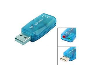 Usb 5.1 Ch 3D Audio Sound Card Headphone Mic Adapter