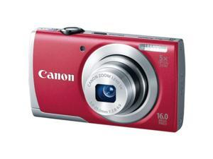 Canon 8159B001 16 Megapixel Powershot A2600 Digital Camera (Red)