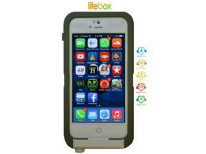 LifeBox Apple iPhone 5 Case - Waterproof Holster and Case with Bonus Armband - 1 Pack (White)